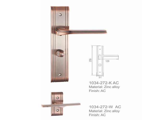 Egypt Revolve Zinc Alloy Door Handle 85mm Customized Key Shape Modern Design Construction